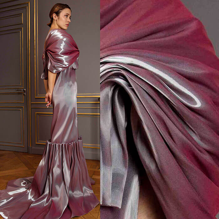 Molten Raspberry Evening Gown